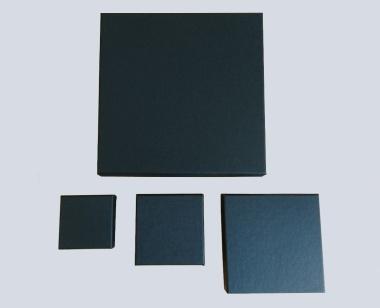 Univ.-/Kettenetui Karton 90 x 90 x 25 mm schw.matt