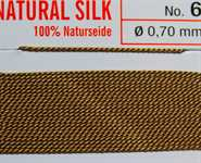 Naturseide  Nr. 2, 0,45 mm beige 2 Meter Nr. 2 - 0,45 mm