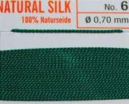 Naturseide Nr. 5, 0,65 mm grün 2 Meter Nr. 5 - 0.65 mm