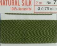 Naturseide Nr. 10, 0,90 mm olive 2 Meter Nr.10 - 0,90 mm