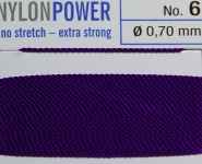 Nylon Power Nr. 8, 0,80 mm amethyst 2 Meter Nr. 8 - 0.80 mm