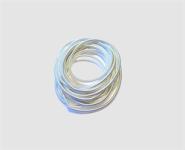Perlspiraldraht versilbert ca. 1 m