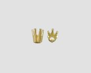585 Gelbgold 6er-Chaton Steingröße 3,1 mm konisch