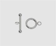 925 Silber Knebelverschluss 8,7 mm 2-tlg.
