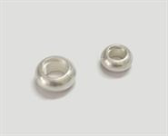 925 Silber Zargenfassung bauchig für Stein 4,00 mm