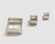 925 Silber Zargenfassung carreé für Stein 3x3 mm