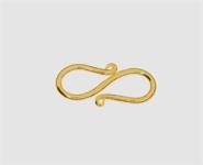 925 Silber vergoldet S-Haken 20,0 mm