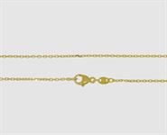 585 Gelbgold Ankerkette diamantiert - Länge 42 cm