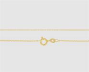 925 Silber Anker rd. 1,1 mm - 45 cm vergoldet
