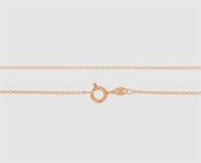 925 Silber Anker weit 1,3mm - 45 cm rot-vergoldet