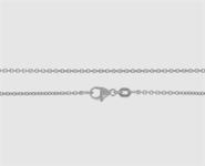 950 Platin Ankerkette rund. 1,3 mm - 45 cm 1,3 mm