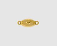 925 Silber Magnetschließe Olive 8 x16mm vergoldet