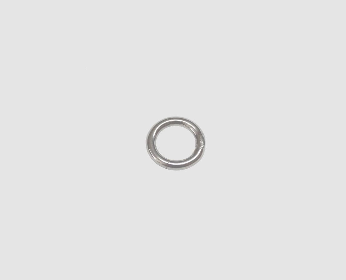 925 silber ringschlie e 18 0 mm rund g tze gold. Black Bedroom Furniture Sets. Home Design Ideas